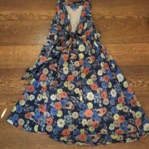 Anthropologie Lil Tie Front Swing Floral Dress 2